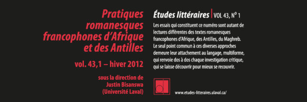 Pratiques romanesques francophones d'Afrique et des Antilles