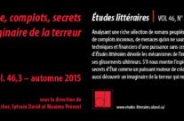 Espionnage, complots, secrets d'État: l'imaginaire de la terreur